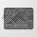 Dazzle Camo #01 - Black & White Laptop Sleeve
