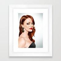 Emma Stone Framed Art Print