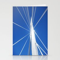 White Suspension Stationery Cards