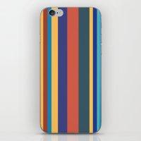 Color Band 70's - B - Stripe iPhone & iPod Skin