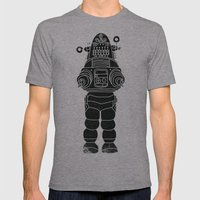 ROBBY THE ROBOT Mens Fitted Tee Athletic Grey SMALL