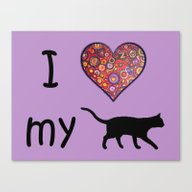 I Heart My Cat Canvas Print