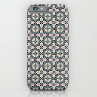 Cute Blue Retro Elegant … iPhone 6 Slim Case