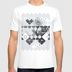 Clear sky Mens Fitted Tee SMALL White