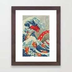 The Great Wave Off Kanto… Framed Art Print