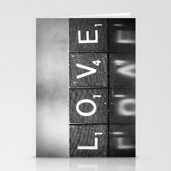 Love is a Beautiful Word - a fine art photograph Stationery Card