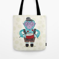 The Monkey Drummer Tote Bag