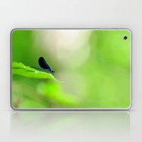 Blue Damsel And The Lime… Laptop & iPad Skin