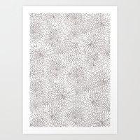 Flowers in lines Art Print