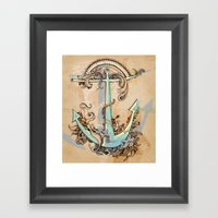 Varuna's anchor Framed Art Print
