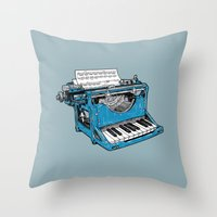 The Composition - Original Colors. Throw Pillow