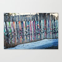 Skis Canvas Print