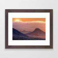 Mead Sunrise Framed Art Print