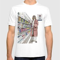 Jeffrey Lebowski And Mil… Mens Fitted Tee White SMALL