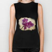 Orchids Biker Tank