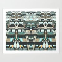 Tilting Urban Structure Art Print
