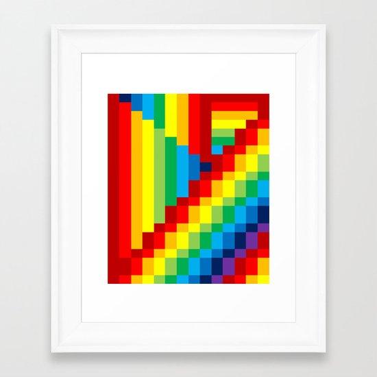 Fuzz Line #3 Framed Art Print