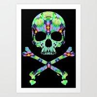 Acid Skull 2 Art Print