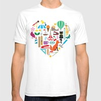 Heart It Mens Fitted Tee White SMALL