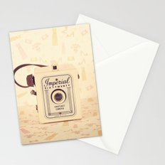 Pretty One Beige and Feminine Film Camera (Vintage and Retro Still Life Photography)  Stationery Cards