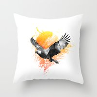 The Eagle that touched the Sun Throw Pillow