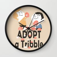 Adopt A Tribble Wall Clock