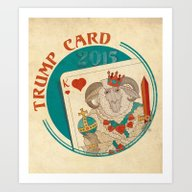 Trump Card 2015 - Ram Art Print