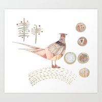 Decorative Pheasant Art Print
