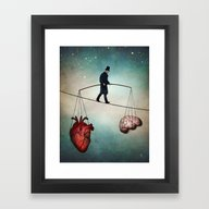 The Balance Framed Art Print
