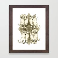 Double Date Framed Art Print