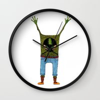 One eyed hipster Wall Clock