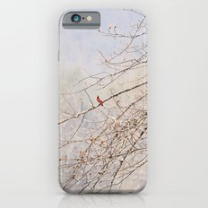 A Spot of Red on a Winter's Day iPhone 6s Slim Case