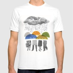 cloudy days for uppercase mag Mens Fitted Tee White SMALL