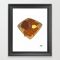 Waffle Time Is Anytime. Framed Art Print