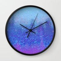 snowing on moon Wall Clock