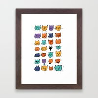 Stylish Cats Framed Art Print