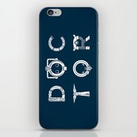 DOCTOR - Clean Tee Print… iPhone & iPod Skin