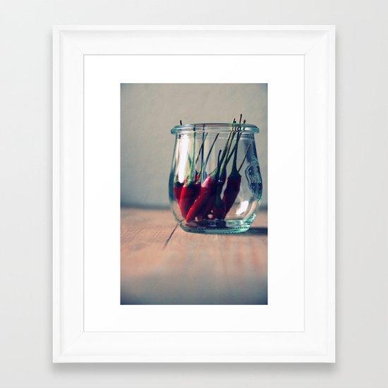 sweet chili  Framed Art Print