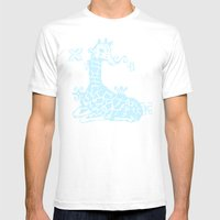 Giraffa Camelopardalis Mens Fitted Tee White SMALL