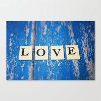 blue love Canvas Print