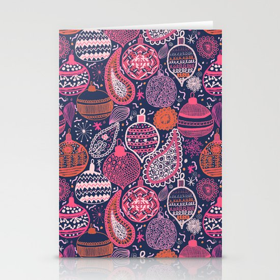 Bohemian Christmas Stationery Card
