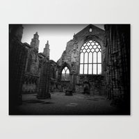 Holyrood Abbey Canvas Print