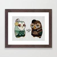 The Owls Framed Art Print