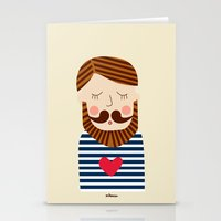 Bearded Sailor Lover Stationery Cards