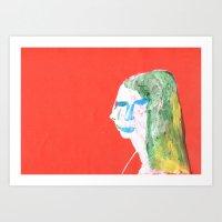 Helga In Profile In Full… Art Print
