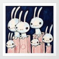 Movie Night Art Print