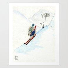 Winter Thrills Art Print