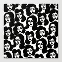 Retro Girls Canvas Print