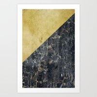 gOld slide Art Print