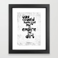 Hurt Framed Art Print